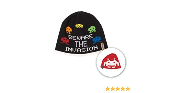 964dc5eb069bc Amazon.com  Space Invaders Arcade Beware The Invasion Reversible Cuffless  Beanie Knit Skully  Clothing