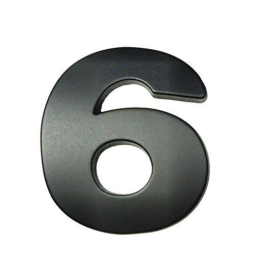 Metal Die Cut Alphabet Letters Arabic Numbers DIY Decorative Signs (Black #6, 4.5cm)