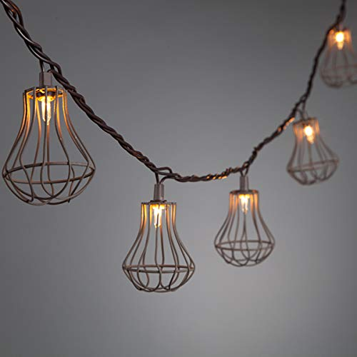 - Patio Essentials Wire Cage String Lights - UL Listed - Indoor/Outdoor Use - Set of 10 Lantern Lights