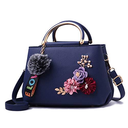 pour 26 brodé foncé 13cm Nj 18 Handbag femme Sac bleu Simple bandoulière 7 couleurs à Fashion wqxxX4fInP