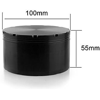 Formax420 XX-Large Grinder 100 mm 4 inch Largest Herb Grinder Spice Mill Black