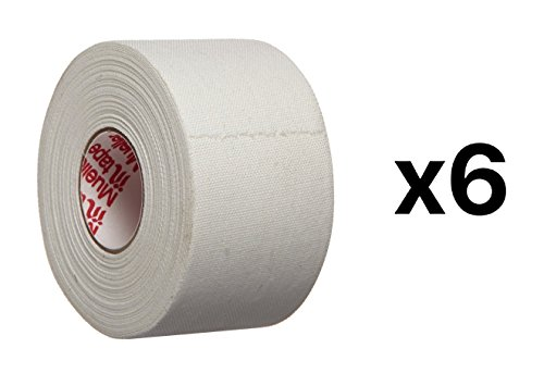 White Athletic Tape - 1 X 10 Yards Zinc Oxide Trainer Tape (6-pack)
