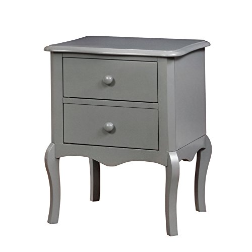 HOMES: Inside + Out IDF-AC325GY Edna Nightstand Childrens, Gray by HOMES: Inside + Out