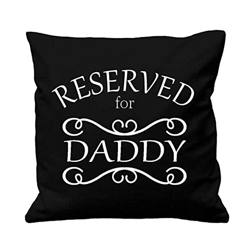 Qinqingo Pillow Covers Cotton Linen Father's Day Quote Decorative Throw Pillow Case Cushion Cover for Sofa Couch Home Decor 18