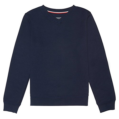 - French Toast Little Boys' Long Sleeve Flat Back Rib Knit Pullover, Navy, S (6/7)