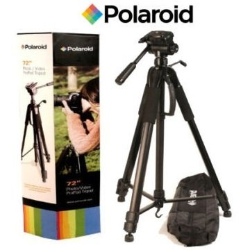 Professional 72-inch Tripod 3-way Panhead Tilt Motion with Built In Bubble Leveling and Deluxe Soft Carrying Case For The Canon 5D Mark III, 5D Mark II, 6D, 7D Mark II, 7D, 70D, 60D, SL1, T6s, T6i, T5i, T5, T4i, T3i,T3, T2i, T1i, Xsi, XS Digital SLR Cameras
