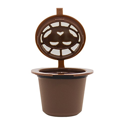 Hot Sale!UMFun Refillable Reusable Coffee Capsules Pods For Nespresso Machines Filter (B)