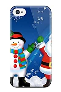 Iphone 4/4s Case Bumper PC Skin Cover For Exclusive Christmas Snowman Accessories