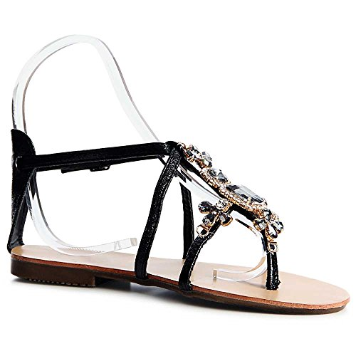 Noir Femmes Sandales topschuhe24 Sandalettes topschuhe24 Femmes Zfqn0Tpw