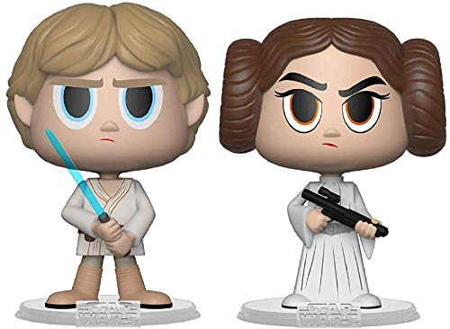 Funko Vynl: Star Wars - Luke Skywalker & Princess Leia Bobble-Head Vinyl Figure (Bundled with Pop Box Protector Case)