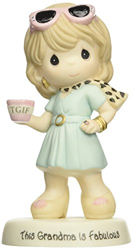 (Precious Moments, Grandma Striking A Pose Figurine, Porcelain Bisque Figurine, 153020)