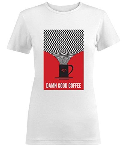 Twin Peaks Damn Good Coffee Red Damen T-shirt
