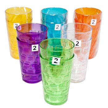 Set of 48 Colorful Party Tumblers - 18oz Party Cups Great for Any Occasion - Plastic Party Glasses for Safe Use, Reuse and More! (48)