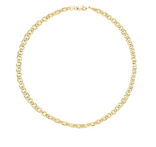 Ritastephens 14k Yellow Gold Mariner Link Foot Chain Anklet Ankle Bracelet 1.7 Mm 10 Inches