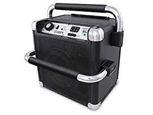 ION Audio Tailgater Active (iPA30ABK) | Portable Heavy-Duty Outdoor Bluetooth Speaker with AM/FM Radio (Black)
