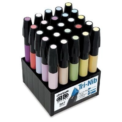 マーカーセット25pc Pastels Drafting  Engineering アート( General Catalog ) by Chartpak