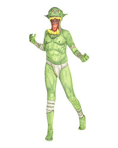 "Green Orc Jaw Dropper Kids Monster Morphsuit Fancy Dress Costume - size Small 3""1-3""6 (94cm-107 cm)"