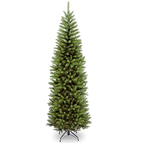 Holidays Christmas Tree Happy - National Tree 7 Foot Kingswood Fir Pencil Tree, Hinged (KW7-500-70)