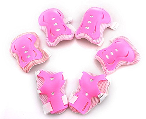7buy One Set 6 PCS Children Kids Skateboard Roller Blading Elbow Knee Wrist Protective Gear Pads Safety Gear Pad Guard