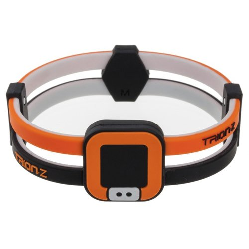 Colantotte Trion:Z Duo-Loop Wristband, Black/Orange, Large