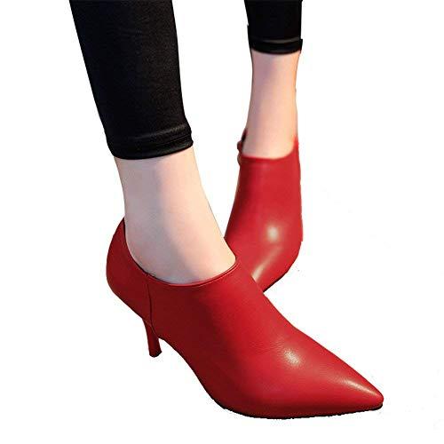 Pu Pointu Talon Boots Eu À Sed 34 Simple Bottines Talons Femmes Bottes Hauts 's cKJlF13T