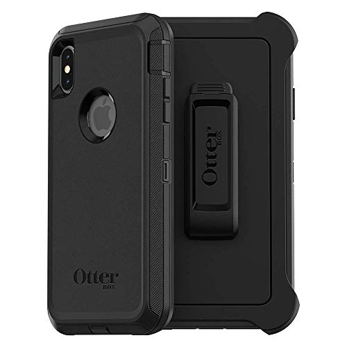 OtterBox DEFENDER SERIES Case for iPhone Xs Max - Retail Packaging - BLACK (Renewed)