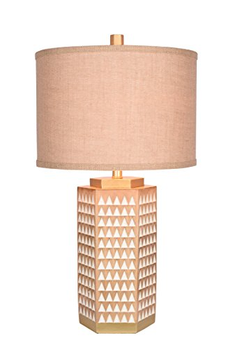 Catalina Lighting 20136-001 3-Way Opal with Leather Tassles with Antique Brass Accents Table Lamp with  Linen Shade, Bulb Included, 24.5