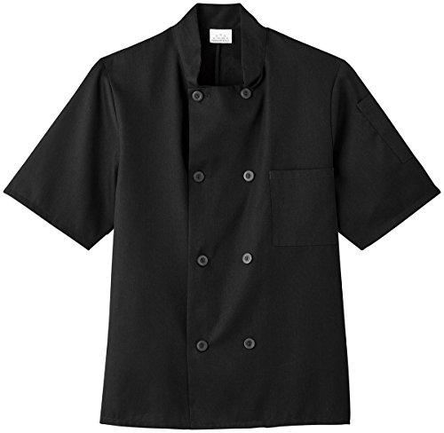 white-swan-unisex-short-sleeve-chef-jacket-black-m