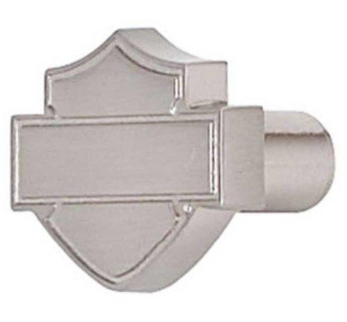 Harley-Davidson® Brushed Nickel Bar & Shield Silhouette Cabinet Knob. - Silhouette Shield