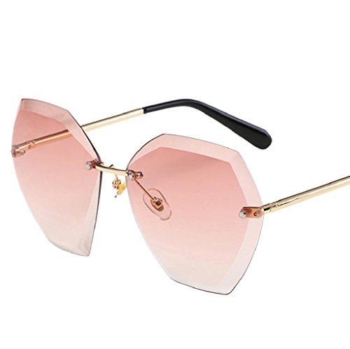 VIASA Women Men Fashion Summer Retro Square Gradient Color Glasses (B, - Where Online Order Eyeglasses To Prescription