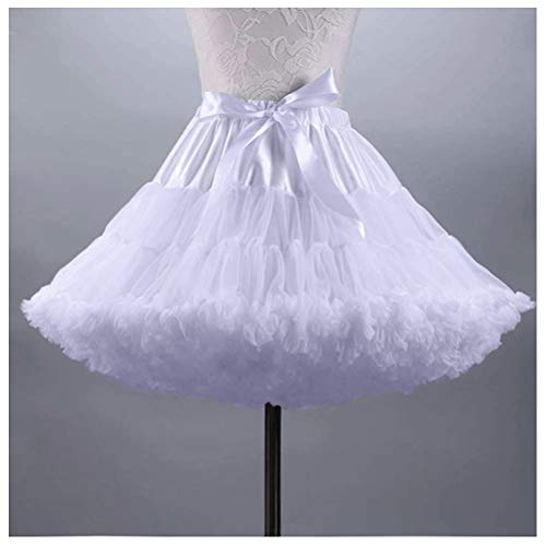 AIBIYI Petticoat Skirts Tutu Tulle Crinoline Underskirt For Women P7