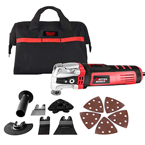 Oscillating Tool, Multifunctional Tool with 4.5°Oscillation Angle?3.5-Amp and Variable Speeds, 13pcs Accessories Included, Masterworks MW146