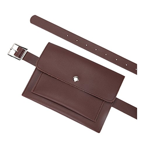 Price comparison product image Women Fanny Pack Belt Bag Waist Pouch With Removable Leather Belt
