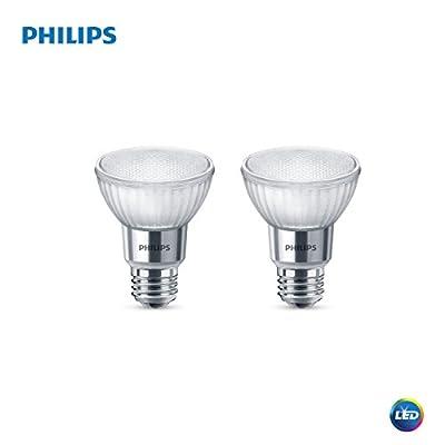 Philips 471136 LED Classic Glass Dimmable PAR20 40-Degree Spot Light Bulb with Warm Glow Effect 500-Lumen, 2200-2700-Kelvin, 7 (50-Watt Equivalent), E26 Base, Soft White