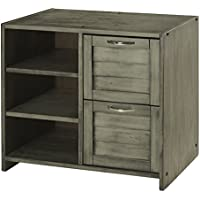 DONCO KIDS 790BAG Louver 2 Drawer Chest/Shelves, Antique Grey