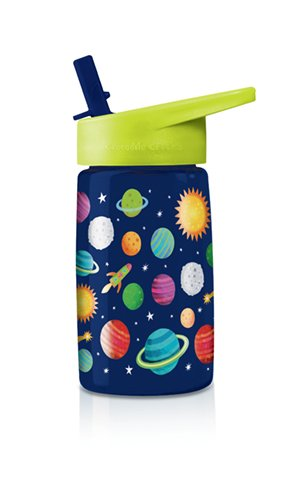Crocodile Creek Solar System Drinking Bottle, Blue/Green/Red/Orange/Yellow