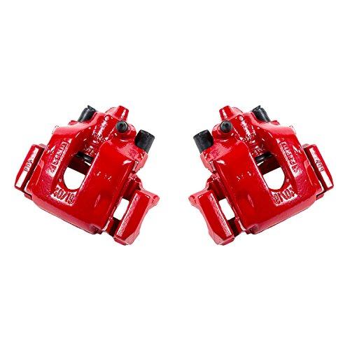 CK00411 [ 2 ] REAR Performance Grade Red Powder Coated Semi-Loaded Caliper Assembly Pair Set ()