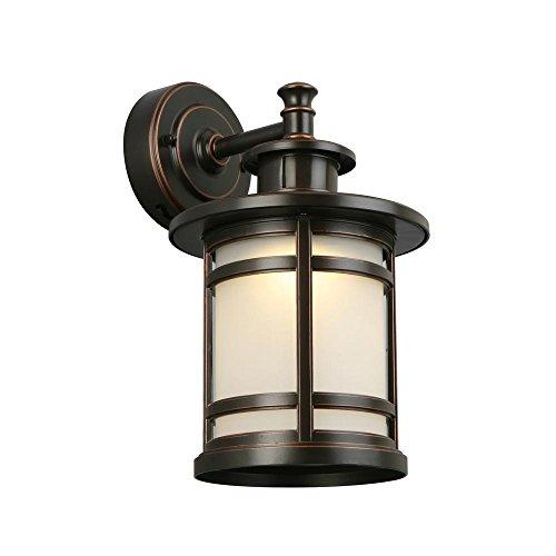 Home Decorators JAQ1691L-2 Oil-Rubbed Bronze Motion Sensor LED Medium Wall Mount Lantern