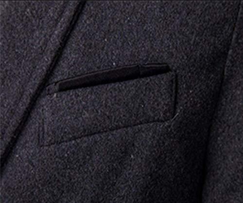 Hommes Black En Pour Homme Manches Décontractée Laine Kangqi Longues Vêtements Manteau Et De À Ewq1O6T