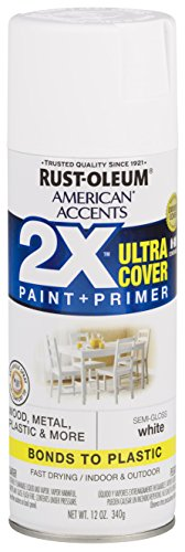 - Rust-Oleum 327951-6 PK American Accents Spray Paint, Semi-Gloss White