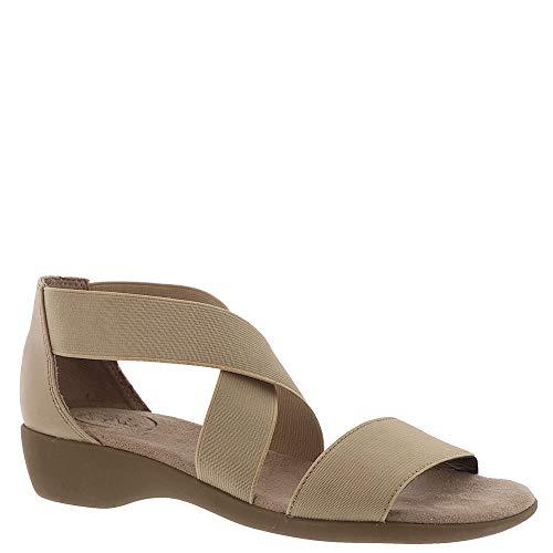 LifeStride Women's TELLIE Flat Sandal, Tender Taupe, 8 M US -