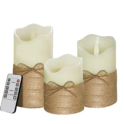MSOO Flameless Candles Battery Operated Pillar Real Wax Flickering Gifts