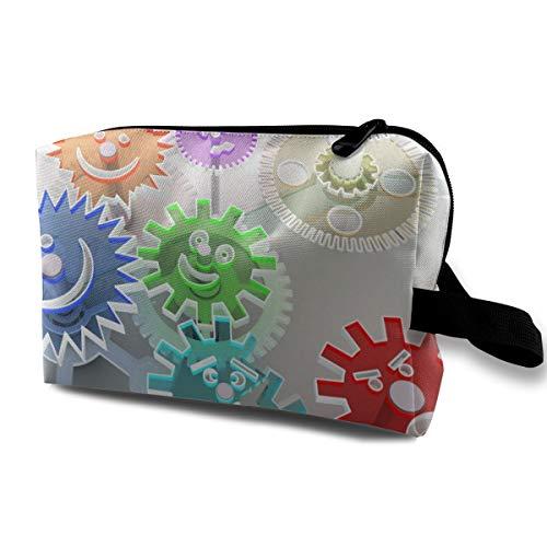 Gear Database Cosmetic Bags Makeup Organizer Bag Pouch Zipper Purse Handbag Clutch Bag -