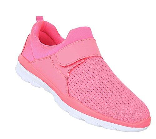 Schuhcity24 Damen Laufschuhe  Pailletten Schuhe Profilsohle  Sneaker Low Runners  Hallenschuhe Weiszlig;e Sohle...