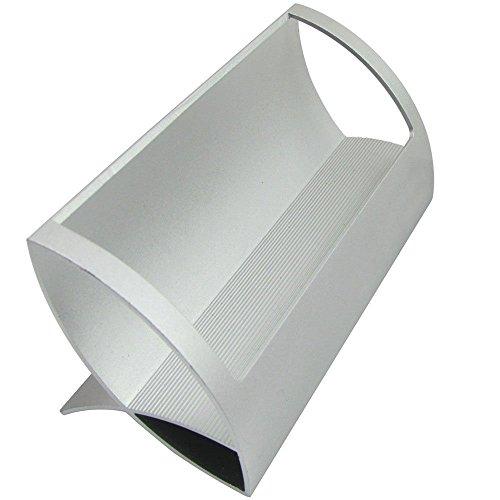 CellCase Desktop Innovative/Creative Q Shape Stainless Steel Business Name Card Holder (Sliver)
