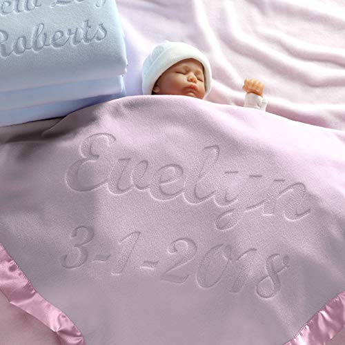 Personalized Baby Blankets (Multiple Text Lines), Boys or Girls Gifts