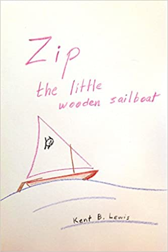 Zip the little wooden sailboat