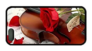 Hipster iphone 5 case customize cases music violin red rose TPU Black for Apple iPhone 5/5S by Maris's Diary