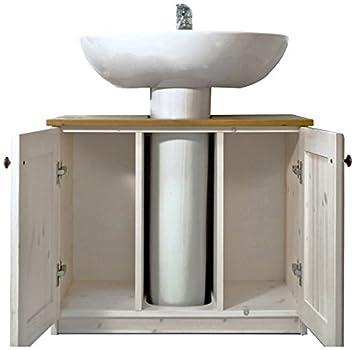 Mobile bagno rustico sotto lavabo in legno di pino  colore ...
