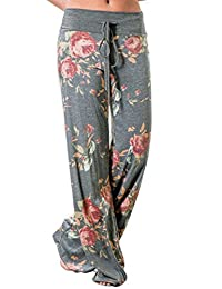 Angashion Women's American Flag Super Comfy Wide Leg High Waist Pants